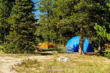 Jenny Lake Campground in Grand Teton National Park in Wyoming