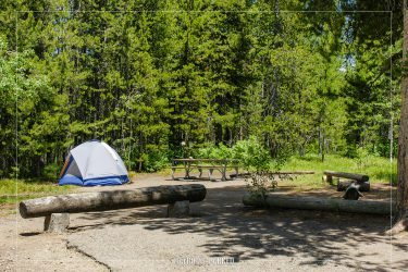 Lizard Creek Campground in Grand Teton National Park in Wyoming