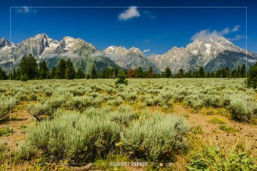 Mountain View Turnout in Grand Teton National Park in Wyoming
