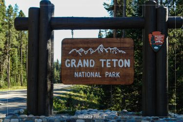 North Entrance Sign in Grand Teton National Park in Wyoming
