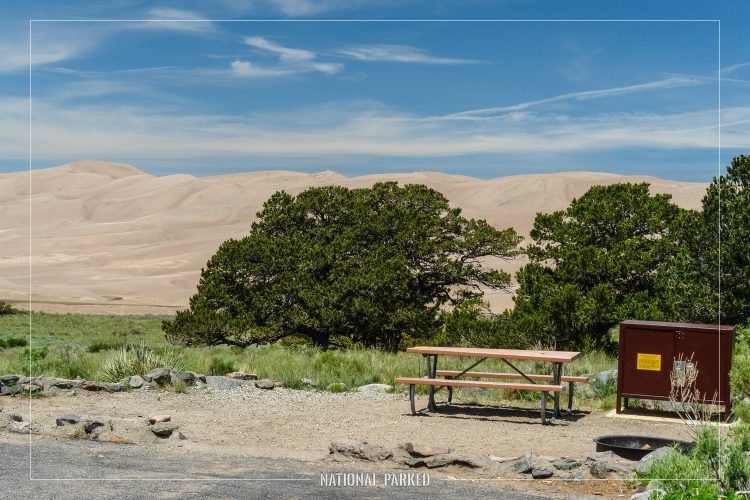 Pinyon Flats Campground in Great Sand Dunes National Park in Colorado