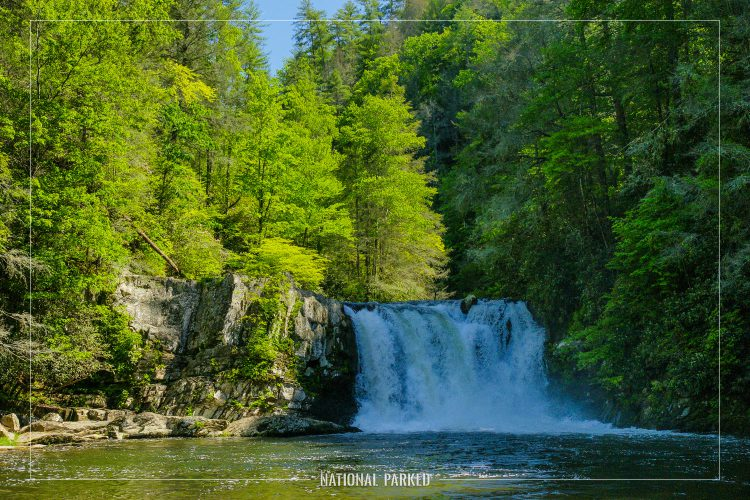 Abrams Falls in Great Smoky Mountains National Park in Tennessee