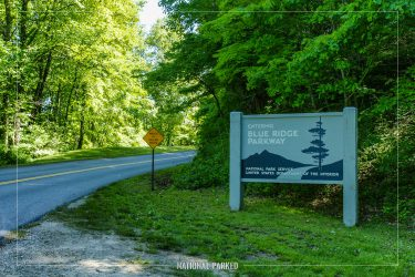 Blue RIdge Parkway Entrance in Great Smoky Mountains National Park in North Carolina