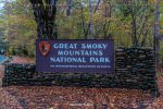 Cherokee Entrance Sign in Great Smoky Mountains National Park in North Carolina