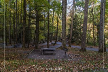 Chimneys Picnic Area in Great Smoky Mountains National Park in Tennessee