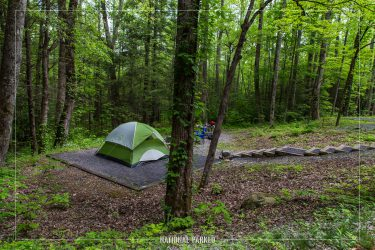 Cosby Campground in Great Smoky Mountains National Park in Tennessee