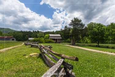 Dan Lawson Place in Cades Cove in Great Smoky Mountains National Park in Tennessee