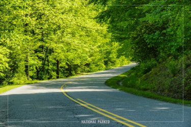 Gatlinburg Bypass Road in Great Smoky Mountains National Park in Tennessee