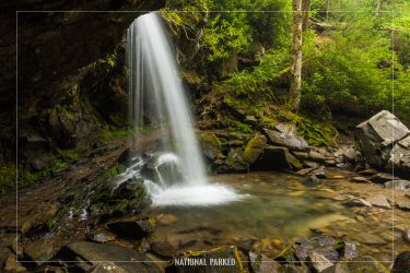 Grotto Falls in Great Smoky Mountains National Park in Tennessee