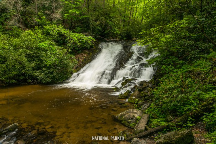 Indian Creek Falls in Great Smoky Mountains National Park in North Carolina