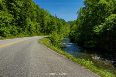 Little River Road in Great Smoky Mountains National Park in Tennessee