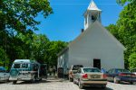 Primitive Baptist Church in Cades Cove in Great Smoky Mountains National Park in Tennessee