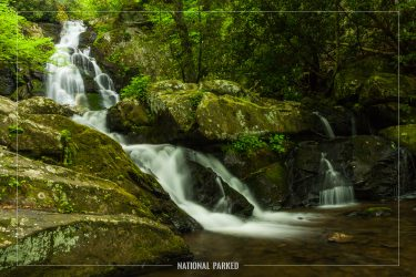 Spruce Flats Falls in Great Smoky Mountains National Park in Tennessee