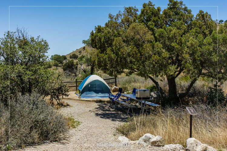 Pine Springs Campground in Guadalupe Mountains National Park in Texas