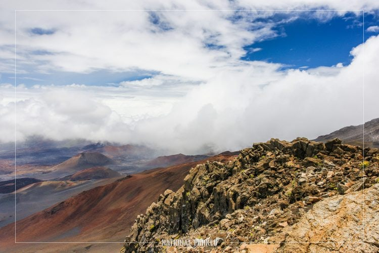 Summit Visitor Center Views in Haleakala National Park in Hawaii