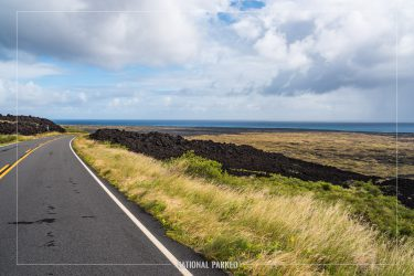 Chain of Craters Road in Hawaii Volcanoes National Park in Hawaii