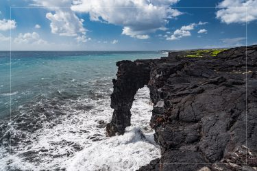 Holei Sea Arch in Hawaii Volcanoes National Park in Hawaii