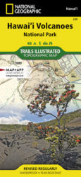 Hawaii Volcanoes Trails Illustrated Map