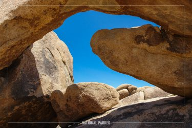 Arch Rock in Joshua Tree National Park in California