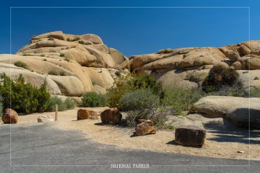 Jumbo Rocks Campground in Joshua Tree National Park in California