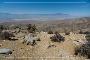 Keys View in Joshua Tree National Park in California