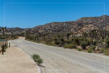 Lost Horse Road in Joshua Tree National Park in California