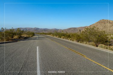 Park Boulevard in Joshua Tree National Park in California