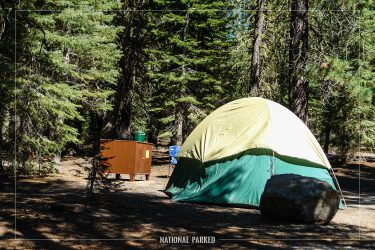Manzanita Lake Campground in Lassen Volcanic National Park in California