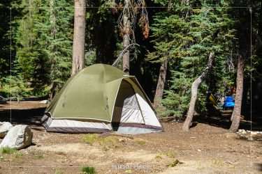 Summit Lake South Campground in Lassen Volcanic National Park in California
