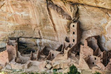 Square Tower House in Mesa Verde National Park in Colorado
