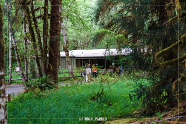 Hoh Visitor Center in Olympic National Park in Washington