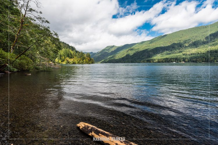 Lake Crescent in Olympic National Park in Washington