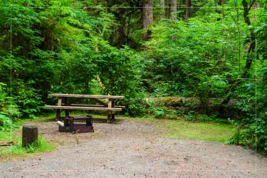 Mora Campground in Olympic National Park in Washington