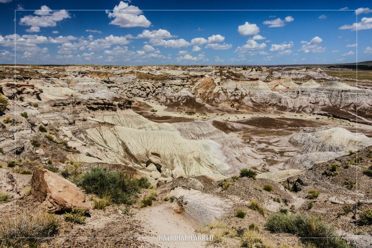 Blue Mesa in Petrified Forest National Park in Arizona