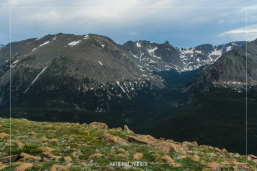 Forest Canyon Overlook in Rocky Mountain National Park in Colorado