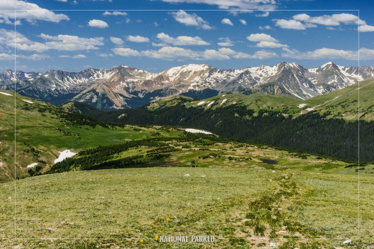 Gore Range Overlook in Rocky Mountain National Park in Colorado