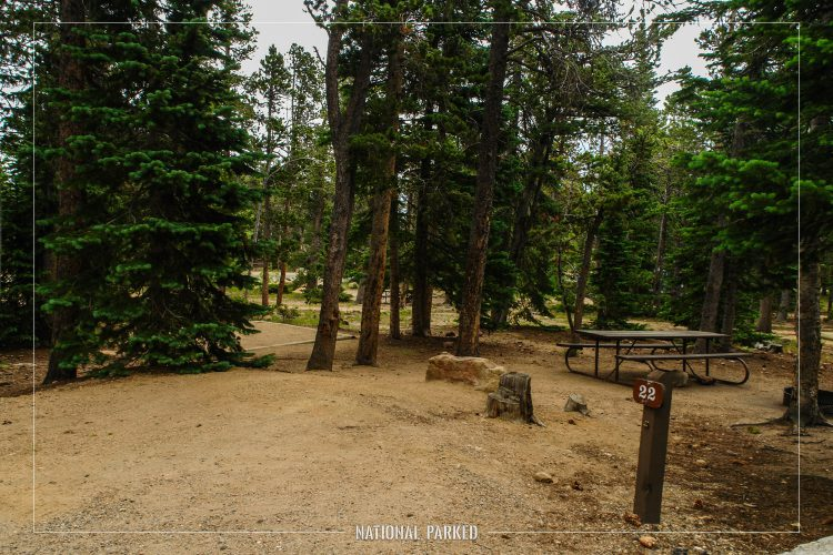 Longs Peak Campground in Rocky Mountain National Park in Colorado