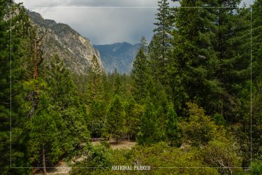 Canyon View Viewpoint in Kings Canyon National Park in California