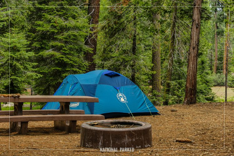Sunset Campground in Kings Canyon National Park in California