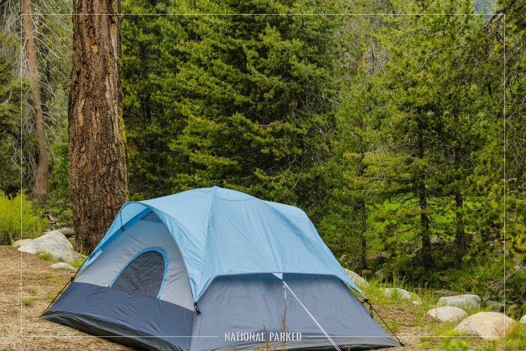 Lodgepole Campground in Sequoia National Park in California