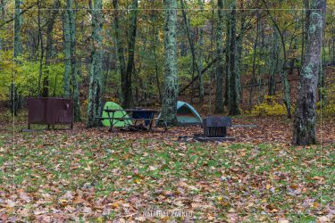 Lewis Mountain Campground in Shenandoah National Park in Virginia