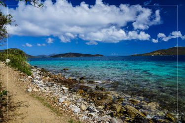 Leinster Bay Trail in Virgin Islands National Park on the island of St. John