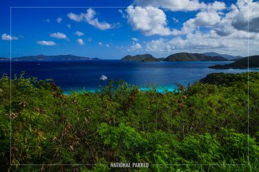 Peace Hill Trail in Virgin Islands National Park on the island of St. John