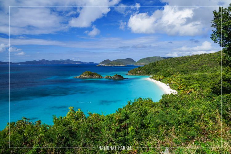 Trunk Bay Overlook in Virgin Islands National Park on the island of St. John