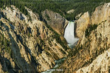 Artist Point in Yellowstone National Park in Wyoming