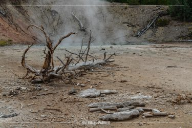 Black Hermit Cauldron in Yellowstone National Park in Wyoming