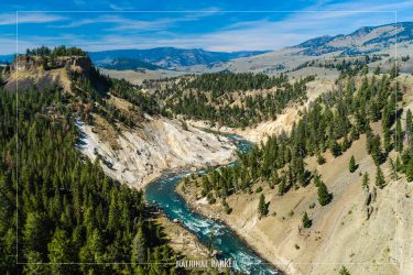 Calcite Springs Overlook in Yellowstone National Park in Wyoming