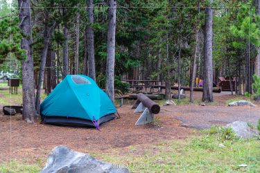 Canyon Campground in Yellowstone National Park in Wyoming