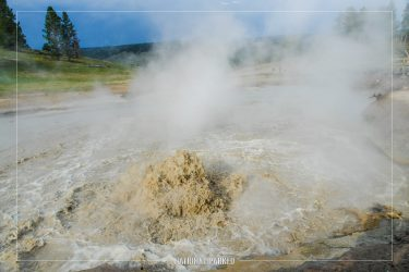 Churning Cauldron in Yellowstone National Park in Wyoming