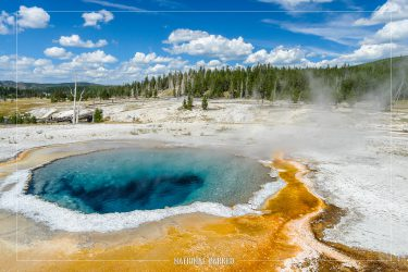 Crested Pool in Yellowstone National Park in Wyoming